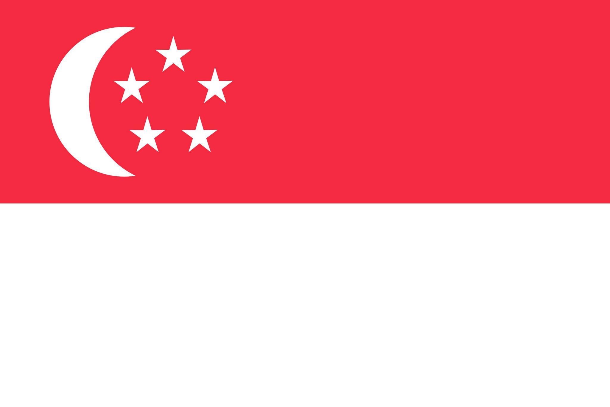 Super Drapeau de Singapour, Drapeaux du pays Singapour KB19